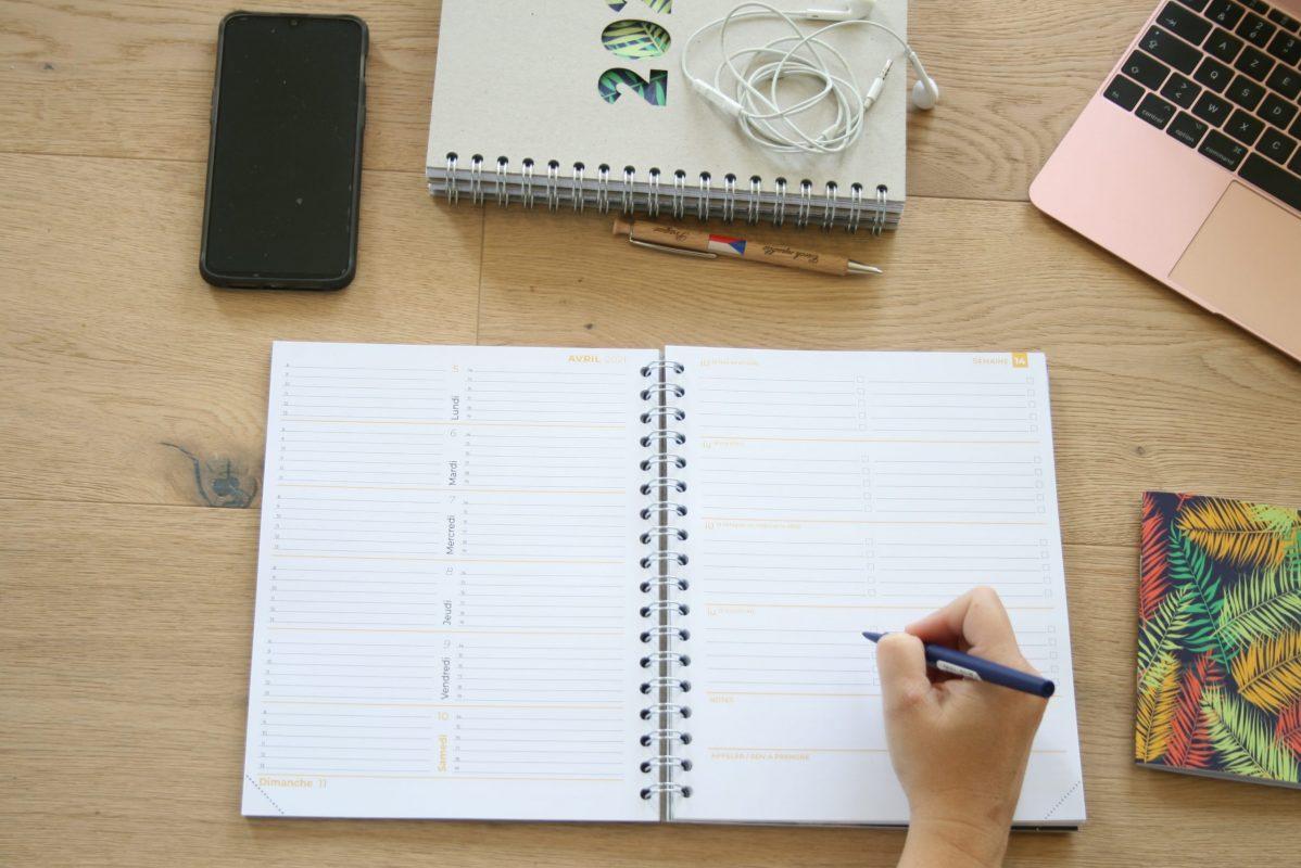 AMZEN2021, organisation, papeterie, agenda papier, semaine, mois